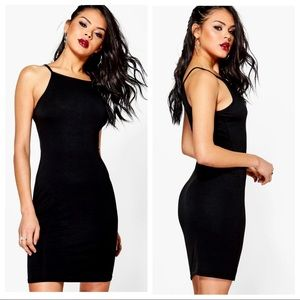 NWT Boohoo Millie High Neck Mini Bodycon Dress